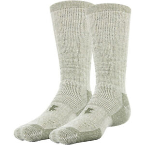 Under Armour U700 Men's UA Charged Wool Hitch ColdGear 2-Pack Crew Socks 1249657