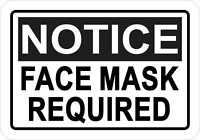5in x 3.5in Notice Face Mask Required Vinyl Sticker Car Vehicle Bumper Decal