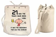 The Years Have Been Kind 21st Birthday Present Duffle Backpack Bag - Funny Gift