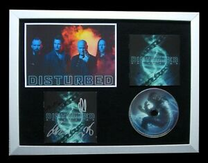 DISTURBED+SIGNED+FRAMED+EVOLUTION+SILENCE+PROOF=100% AUTHENTIC+FAST GLOBAL SHIP