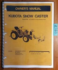Kubota B748 B648A B648 Snow Caster Snowblower for B7100 Parts & Owner's Manual
