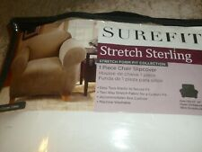 SureFit Stretch Sterling 1 Piece Chair Cover Cream New/Package $99 Retail!