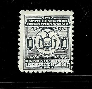 HICK GIRL-USED U.S. STATE REVENUE   1 CENT  NEW YORK  BEDDING TAX      D1143
