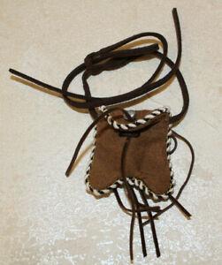 Tonto Native American 1:6 scale Belt Pouch faux suede fits 12in Ken doll figure