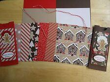 Stampin Up CANDY CANE LANE 6 x 6 Designer Card Kit GINGERBREAD MAN CHRISTMAS