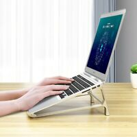 JF_ IC- Heat Dissipation PC Laptop Stand Cooling Holder Aluminum Alloy Stand-u