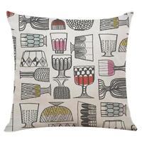 Geometric Pillowcase Cotton Linen Pillow Case Cover Waist Throw Sofa Home Decor