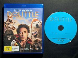 Robert Downey Jr Dolittle Blu-Ray Disc Movie Region 4 AUS Like New + FREE POST