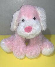 """2015 Toys R Us Pink & White Dog Plush Shaggy Floppy Soft Stuffed Animal 20"""""""