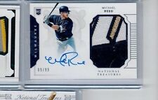 Michael Reed Milwaukee Brewers National Treasures Rc Sick Patch Auto /99