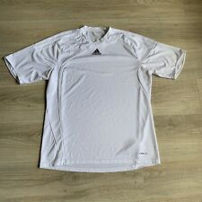 Adidas Tshirt Mens White Clima365 Short Sleeve Athletic Top Football Sz Xl