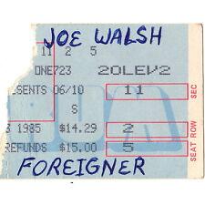 Joe Walsh & Foreigner Concert Ticket Stub Philadelphia 7/23/85 Spectrum Eagles