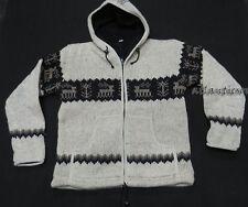 J567 M Multi Wool Fleece Hoodie Deer Tree Design knitted winter men Jacket Nepal