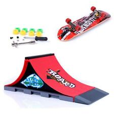 Mini Finger Skateboard Toy w/ Stunt Ramp Accessory Boy Kids Children Gift A#