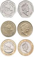 Gibraltar 2018 - Trio Calpe House Coins - £2, £1 & 50p