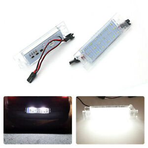 For Opel Insignia Number License Plate Lamps SMD LEDs Tail Lights Assembly 2PCs