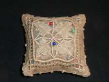 Charming Antique Pin Cushion with Danish Openwork and Needle Lace.