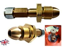 UK Propane gas bottle Cylinder POL SWIVEL Adapter to 8mm Poly Pipe flexi  FARO