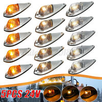 5pcs 24V Cab Marker Roof Top Clearance Light for Semi-trailer Truck SUV Tractor