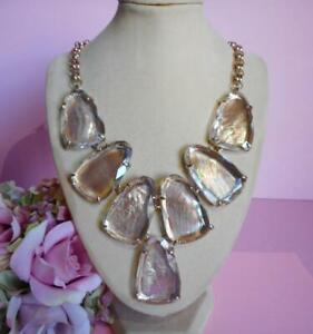 Kendra Scott HARLOW Rose Gold Plated Suspended Brown Mother of Pearl Necklace