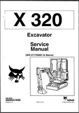 Bobcat X320 320 Mini Excavator Service Manual (B166)