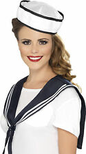 Ladies Fancy Dress Instant Sailor Kit Hat & Shoulder Scarf Set by Smiffys