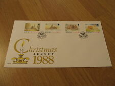 BEAUTIFUL UNADDRESSED Winter Christmas Scenes 1988 Jersey FDC First Day Cover