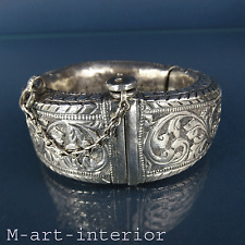 Antique African Arabian Omani Silver Anklet Zanzibar Women Bracelet 1860 - 1900
