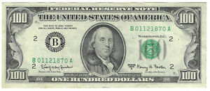$100 1963-A Fowler Federal Reserve Note New York Fr#2163B