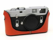 Leather Half Case for Leica M6 M7 MP M2 M3  (with or w/o selftimer) - Orange