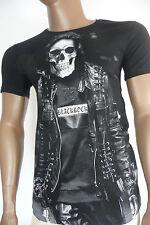 Herren T-Shirt BLACKROCK Skull Totenkopf Totenschädel Kurzarm schwarz Gr. S