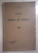 PRECIS DE LOGIQUE DES SCIENCES 1938