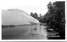 Vintage RPPC Photo Postcard Grand Marais Sable River Dunes Michigan