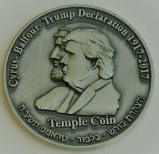 Donald Trump Coin AUTHENTIC Half Shekel King Cyrus Israel Jewish Temple Mount NR