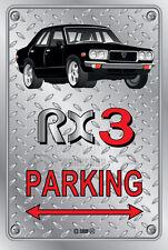 Parking Sign Metal MazdA RX3 4-door-15 - Checkerplate Look