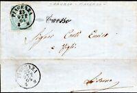 REGNO - ANNULLAMENTI EX DUCATO DI PARMA PIACENZA 23/10/1864 CORSIVO CAORSO
