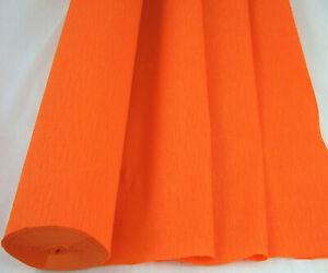 1 Orange Large Crepe Paper Roll  26metres x 50cm by clikkabox