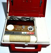 VINTAGE National Hair Dryer Manicure Set Deluxe MH-10 Bonnet Curler Case RETRO
