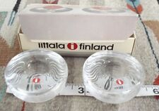 Mid Century Tapio Wirkkala Ahlstrom Finland MAARU NEW IN BOX Candlkesticks WOW!