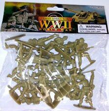 WWII German Afrika Korp Bagged Playset 20 Tan Soldiers 1/32 AIRFIX MARX POSES