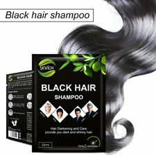 5pcs Instant Black Shampoo Grey White Hair Darkening Shinny in 5 Minute Sevich