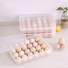24 Eggs Refrigerator Food Dumplings Eggs Airtight Storage Container Box