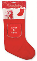 Make Your Own Personalised Christmas Stocking With Letter To Santa Pocket XSTPER