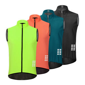 Men Cycling Vest MTB Gilet Mountain Road Bike Vest Sleeveless Jersey Riding Top