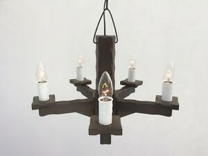 TWS/5 - Symphony Collection - Wooden 5-Light Pendant / Wood Ceiling Light