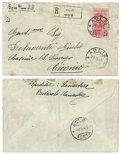 ITALIA 1944 RSI FRATELLI BANDIERA L.2,50 ISOLATO SU BUSTA RACCOMANDATA
