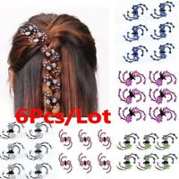 6Pcs/Lot Crystal Flower Clamp Hair Clip Hair Claw Hair Accessories For Girl