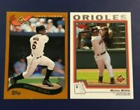2002 & 2004 Topps #98 #588 MELVIN MORA Lot 2 Baltimore Orioles 2 LOOK !