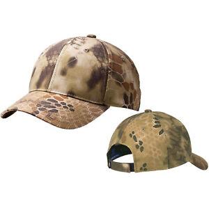 Mens Camo Baseball Cap Kryptek Highlander Hat Mid Structured Adjustable