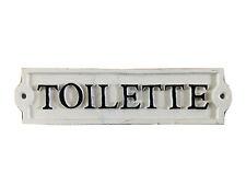 """Cast Metal """"Toilette"""" Sign"""